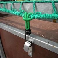 Haak metaal met elastische lus voor aanhangernet/tent/zeil