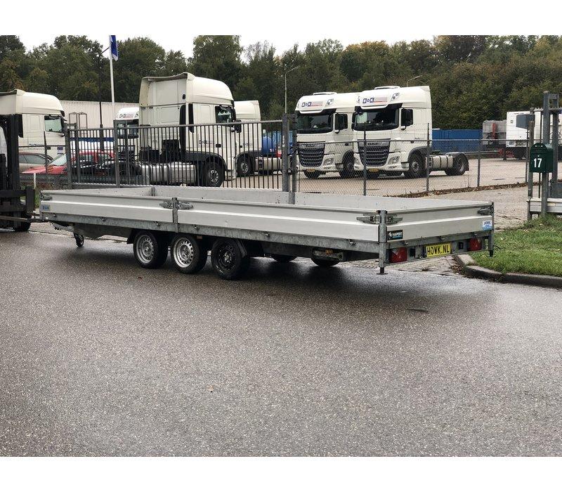 Gebruikte Hapert plateauwagen 6x2 met oprijplaten