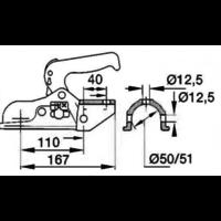 kogelkoppeling AL-BE EM 300 R tot 3000 kg