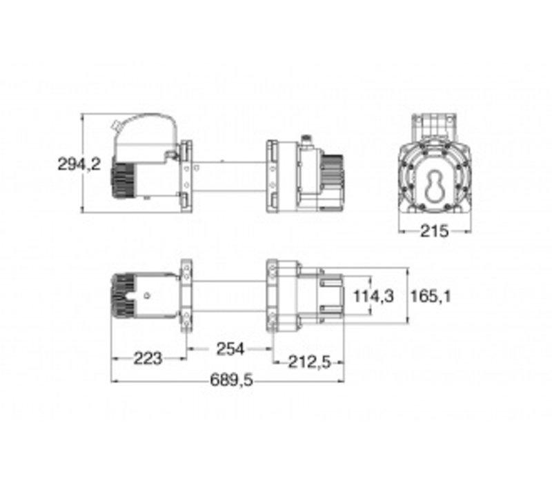 SUPERWINCH Talon 18 (24v) max trekkracht 8165kg afstandsbediening met kabel