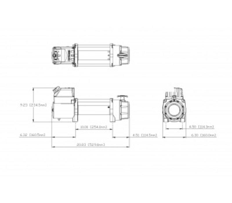 Elektrische lier Tigershark 9500, 12 V DC