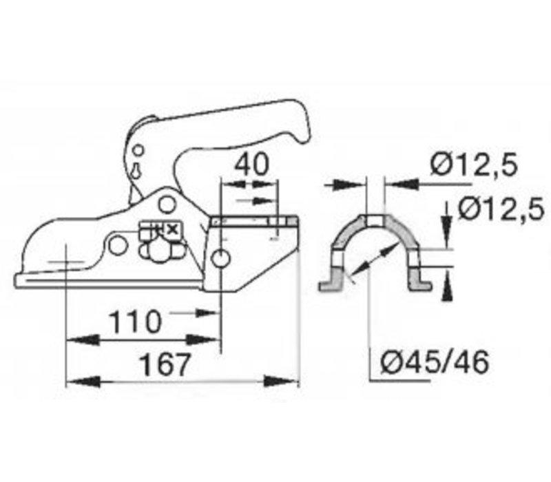 AL-BE Koppeling EM 300R tot 3000 kg uitv. A, Ø 45/46mm