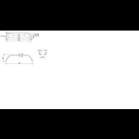 Tandemas metalen spatbord, DM 2620/12, B 260/S 1500 mm