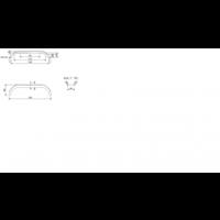 Tandemas Kunststof spatbord, THMK 2420/12, Kunststoff, B 240/S 1500 mm