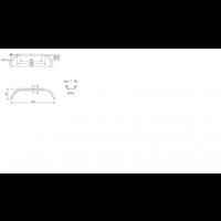 Tandemas stalen spatbord, D 2220/12, B 220/S 1550 mm