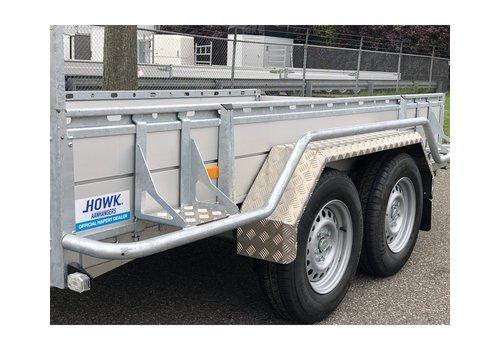 HOWK Aluminium traanplaat spatbord AQ 23150 (tandemas), Aluquinett, B 230/S 1500 mm