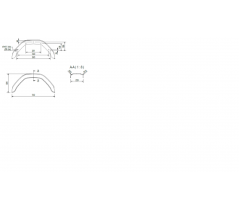Kunststof Enkelas spatbord HMK 20/660 B 200/S 660 mm