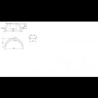 Kunststof Enkelas spatbord HMK 24/800 B 240/S 800 mm