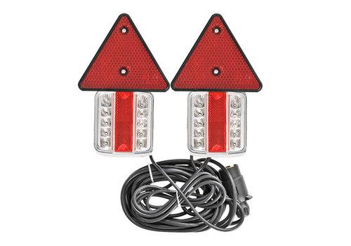Budgetline Led Aanhangerverlichtingsset met magneten reflectoren 7,5+2,5M kabel