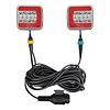 Budgetline Led Aanhangerverlichtingsset LED 4F met magneten 7,5+2,5M kabel 13P
