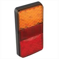 LED Achterlicht 12/24V 4 functies 80x150mm