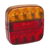 LED Achterlicht 12V 5 functies 107x107mm