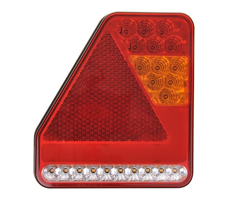 LED Achterlicht 5 functies 208x188mm 22LED rechts