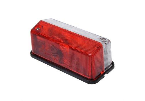 Budgetline Breedtelicht rood/wit 92x42mm