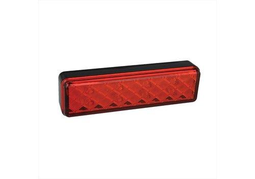 budget Achterlicht 12/24V 2 functies 135x38mm LED met houder zwart