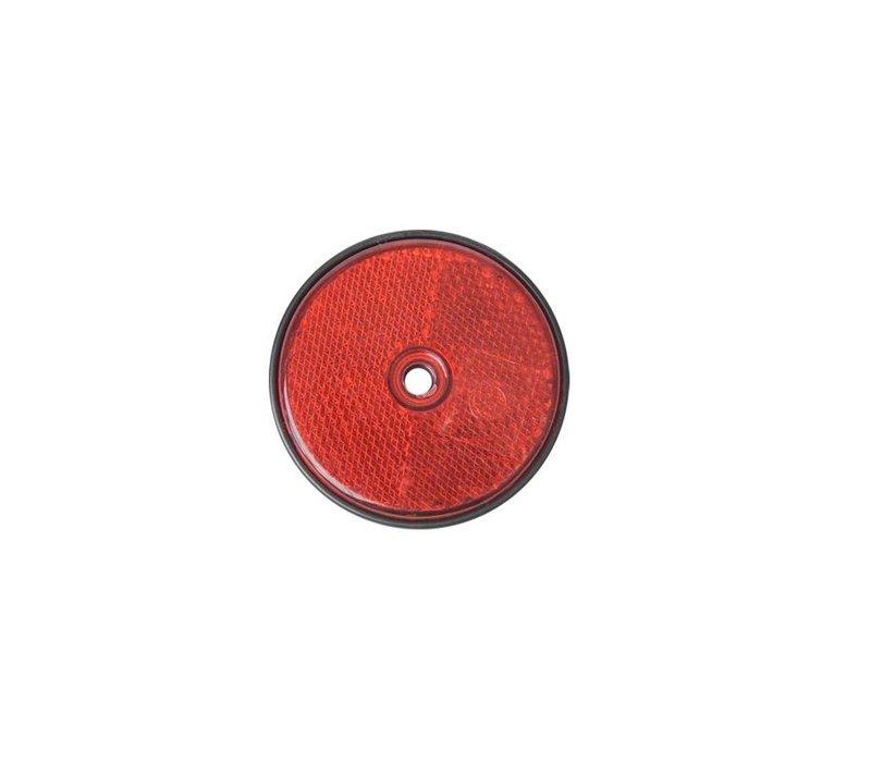 Reflector rood 60mm schroefbevestiging