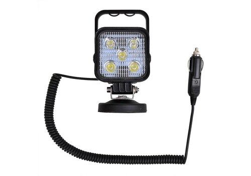Budgetline Led Werklamp op magneet + 3M spiraalkabel met 12V stekker