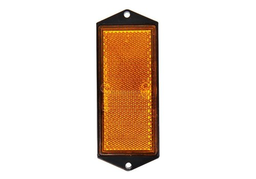Budgetline Reflector oranje 104x40mm schroefbevestiging
