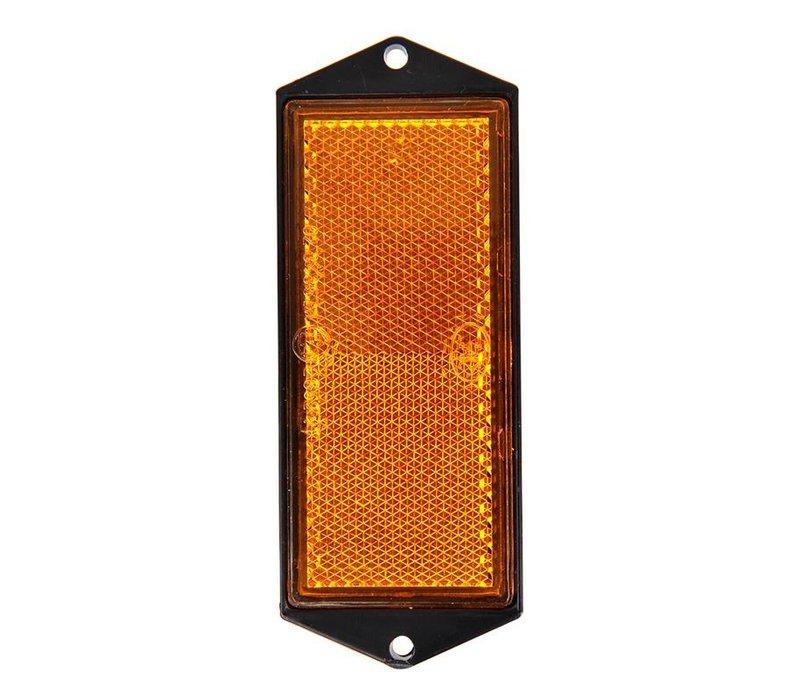Reflector oranje 104x40mm schroefbevestiging