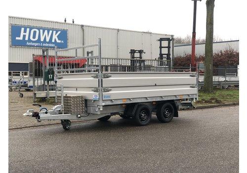 Hapert Aanhangwagens Hapert Kipper 335x180 3500kg met parabool vering