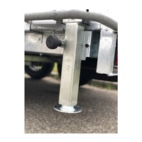 Steunpoot Hapert Azure L/Saphire L, 90 graden verstelbaar, verhoogde adapter