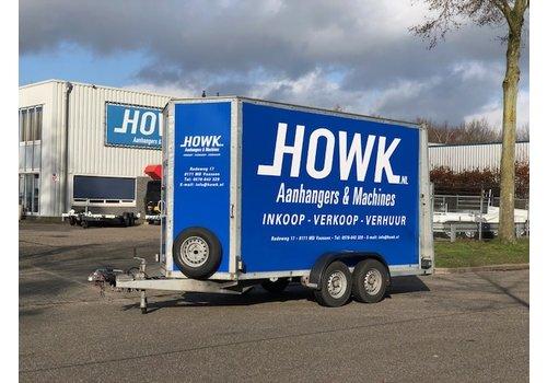 Aanhanger huren Gesloten aanhangwagen huren? 350x150x214cm met oprijklep ( 2700kg )