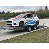 Aanhanger huren Race trailer huren? Open autotransporter voor verlaagde auto's