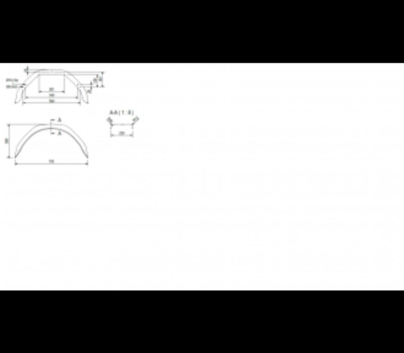 Enkelas spatbord staal HM 2212/12