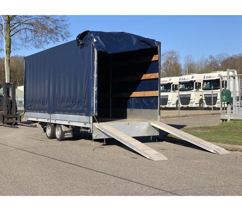 Gebruikte Hapert huif aanhangwagen 500x200x200cm 3000kg