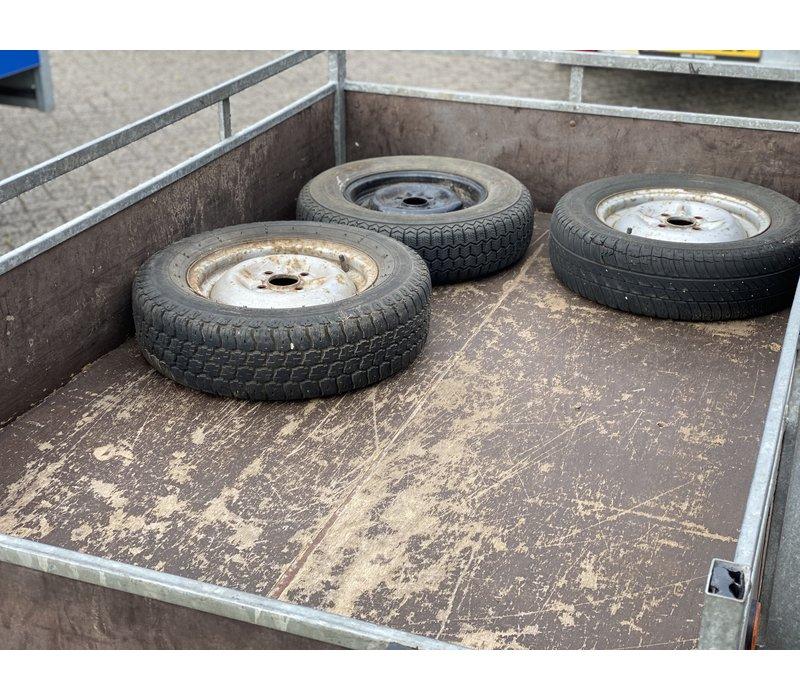 Gebruikte bakwagen200x120cm 750kg ongeremd