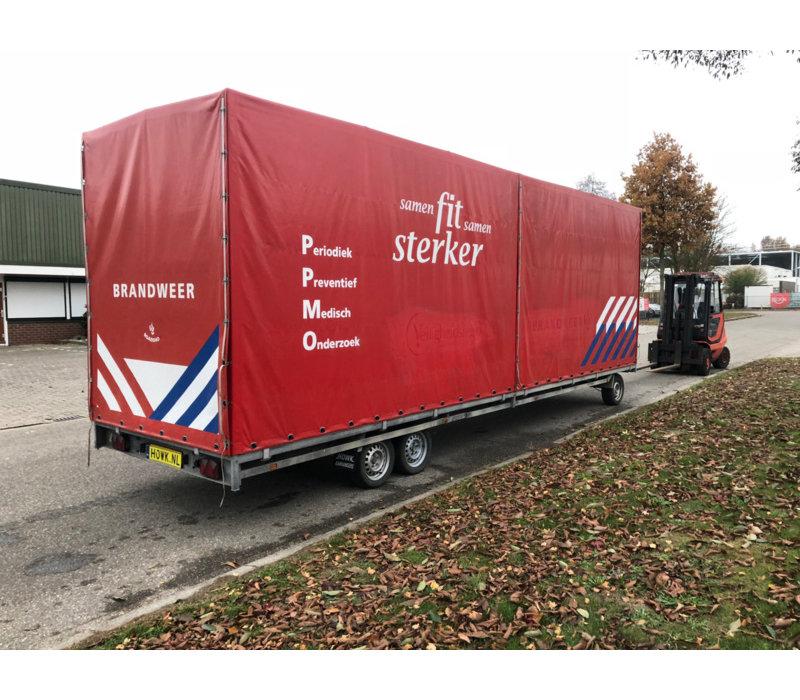 Gebruikte Huif + frame tbv schamelwagen 811x211x252cm