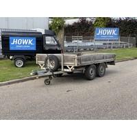 Gebruikte Pijnappel plateauwagen 295x175cm 1500kg