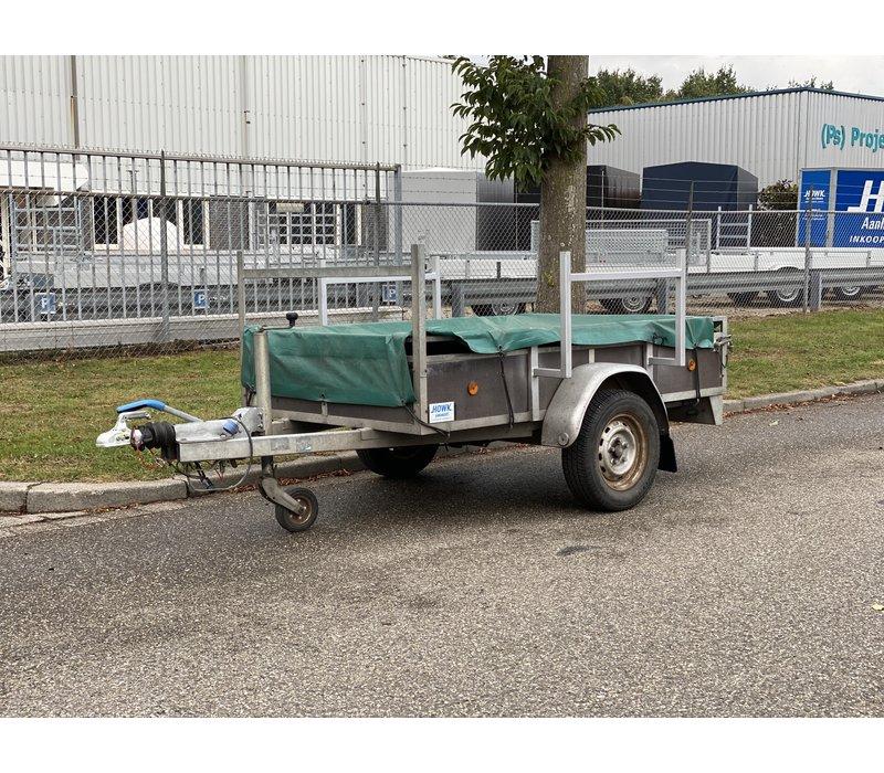 Gebruikte Hoka bakwagen 250x130cm 750kg geremd