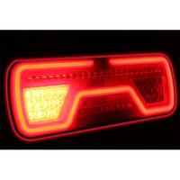 Rechts LED Neon achterlicht  dynamisch knipperlicht 12-24v 200cm. kabel