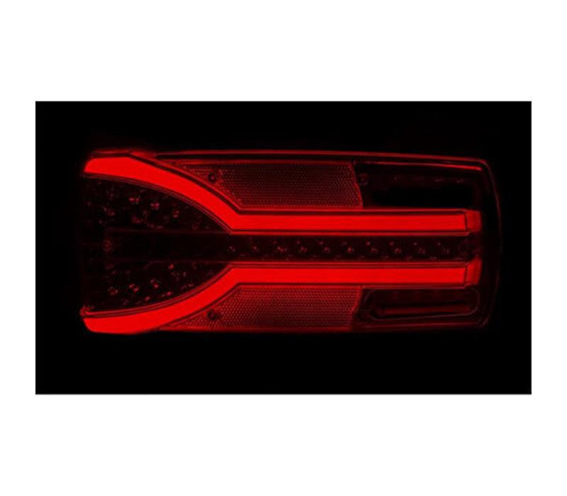 Links LED achterlicht dynamisch knipperlicht 12-24v 150cm. kabel
