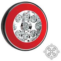 LED hamburgerlamp met Lavaflowlook achterlicht 12-36v 5 pin