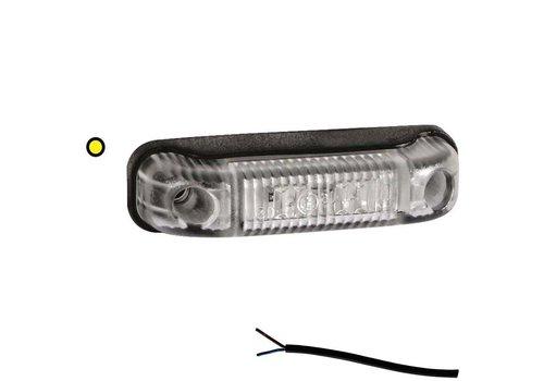 Fristom LED markeringslicht amber 12-24v 50cm. kabel