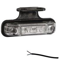 LED markeringslicht amber 12-24v 50cm. kabel incl. houder