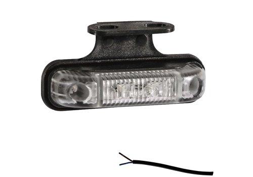 Fristom LED markeringslicht amber 12-24v 50cm. kabel incl. houder