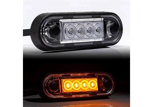 Fristom LED markeerverlichting Amber 12-24v 50cm. kabel