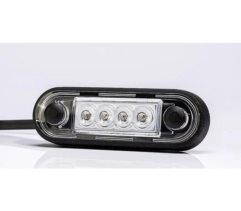 LED markeerverlichting Wit 12-24v 50cm. kabel