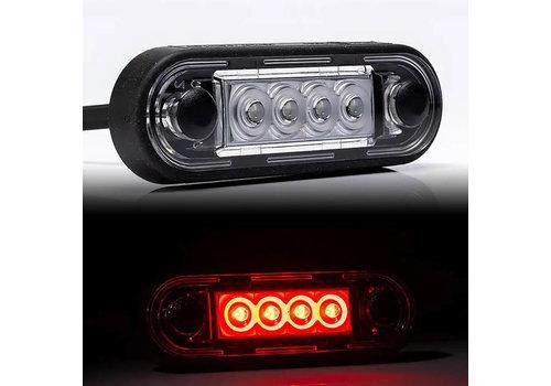 Fristom LED markeerverlichting Rood 12-24v 50cm. kabel