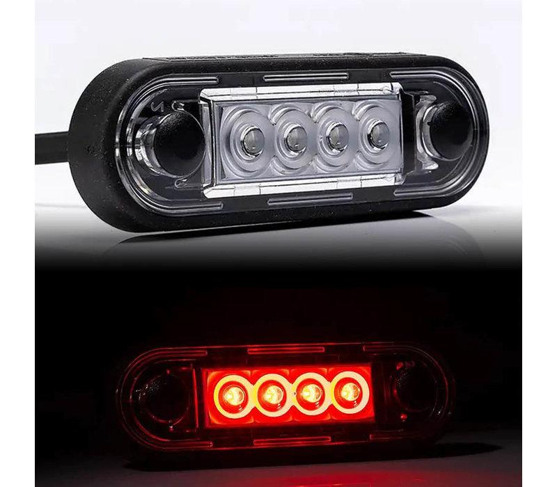 LED markeerverlichting Rood 12-24v 50cm. kabel