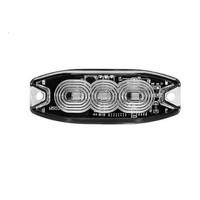 Slimline LED Flitser 3 LED's Amber 10-30v