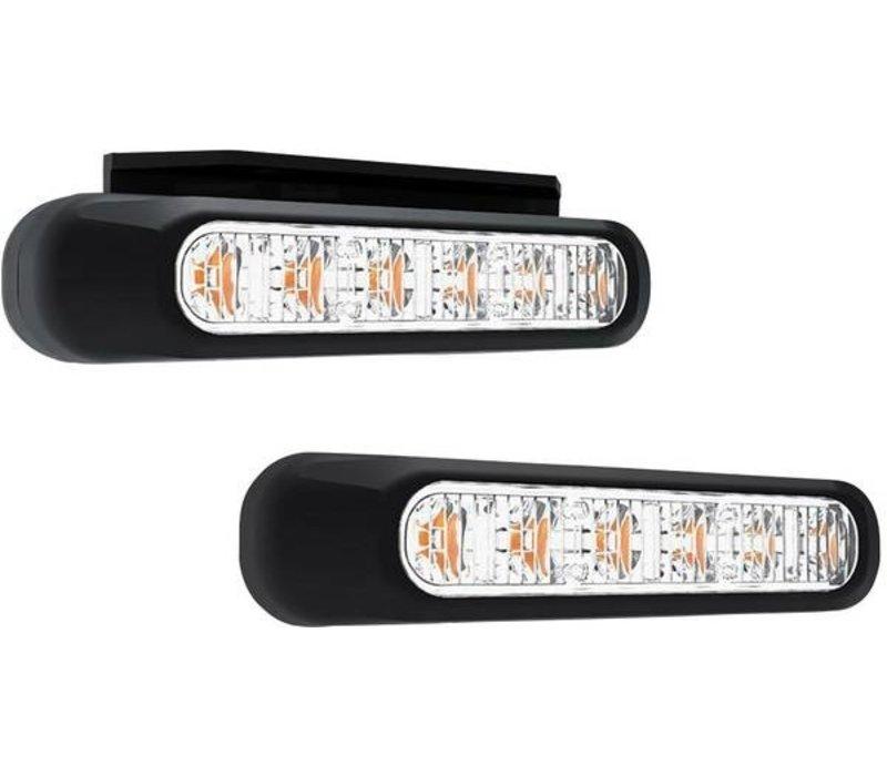 LED Flitser 6 LED's Amber 10-30v