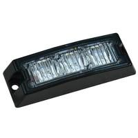 Slimline LED Flitser 3 LED's Amber 10-30v 79x24x15mm