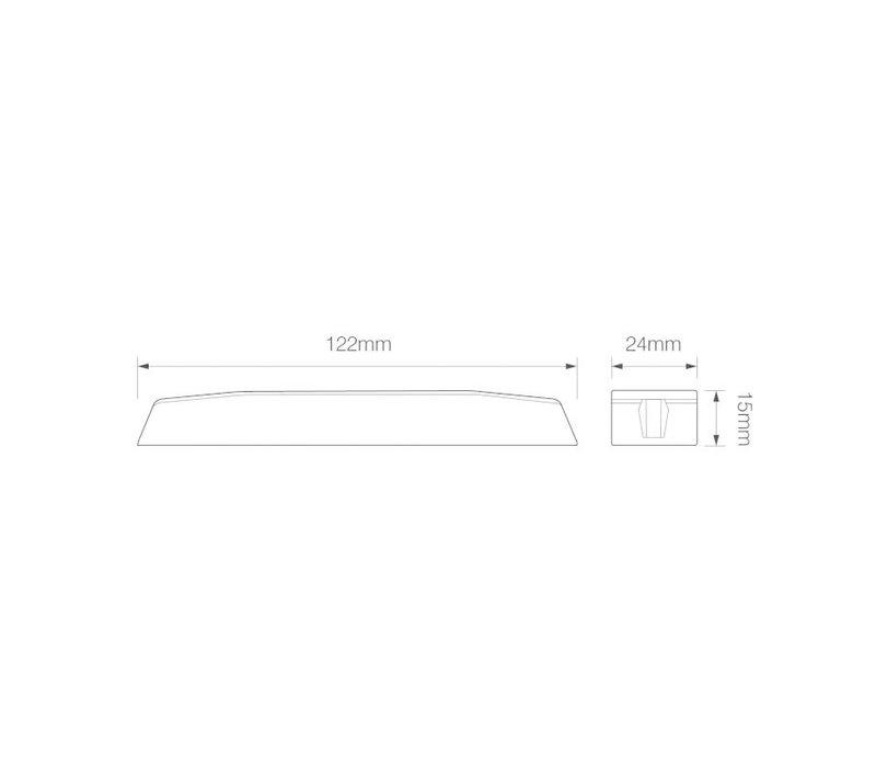 Slimline LED Flitser 6 LED's Amber 10-30v 122x24 x15mm