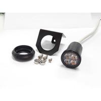 R65 ronde LED Flitser 4 LED's Amber 10-30v 36x39mm