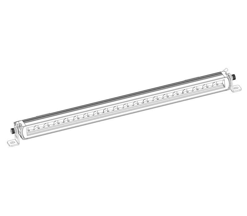 LED bar 100 watt, 5920 lumen, drivingbeam 9-36 volt 550x38x65mm