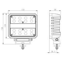 LED Werklamp 8267 lumen 80 watt  IP69K  ingebouwde Deutsch-connector